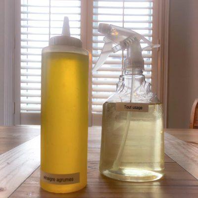 Le vinaigre aux agrumes comme nettoyant tout usage